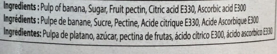 Chunky Banana Jam - Ingrédients - fr