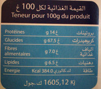 FIT OAT - حقائق غذائية - ar