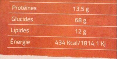 Cookies oatmeal raisins secs - حقائق غذائية - fr