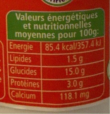 Yaourt parfumé au coco - Voedingswaarden - fr