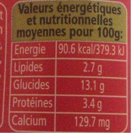 Panier de Yoplait fruits des bois - Informations nutritionnelles - fr