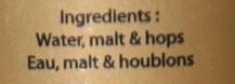 Phoenix Beer - Ingredients - fr