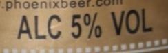 Phoenix Beer - Nutrition facts