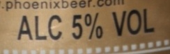 Phoenix Beer - Nutrition facts - fr