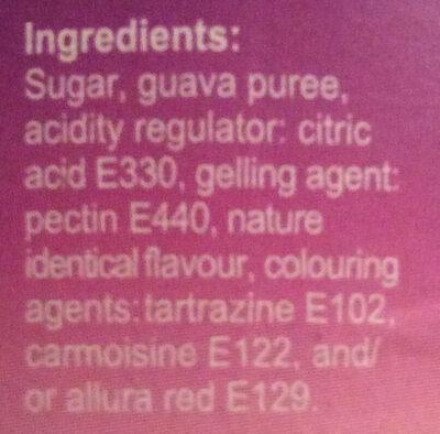 Guava jam confiture de goyave - Ingrédients