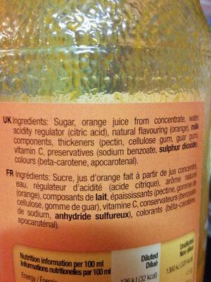sunquick orange - Ingredients - fr