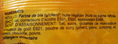 Nouilles - Saveur Curry - Ingredients