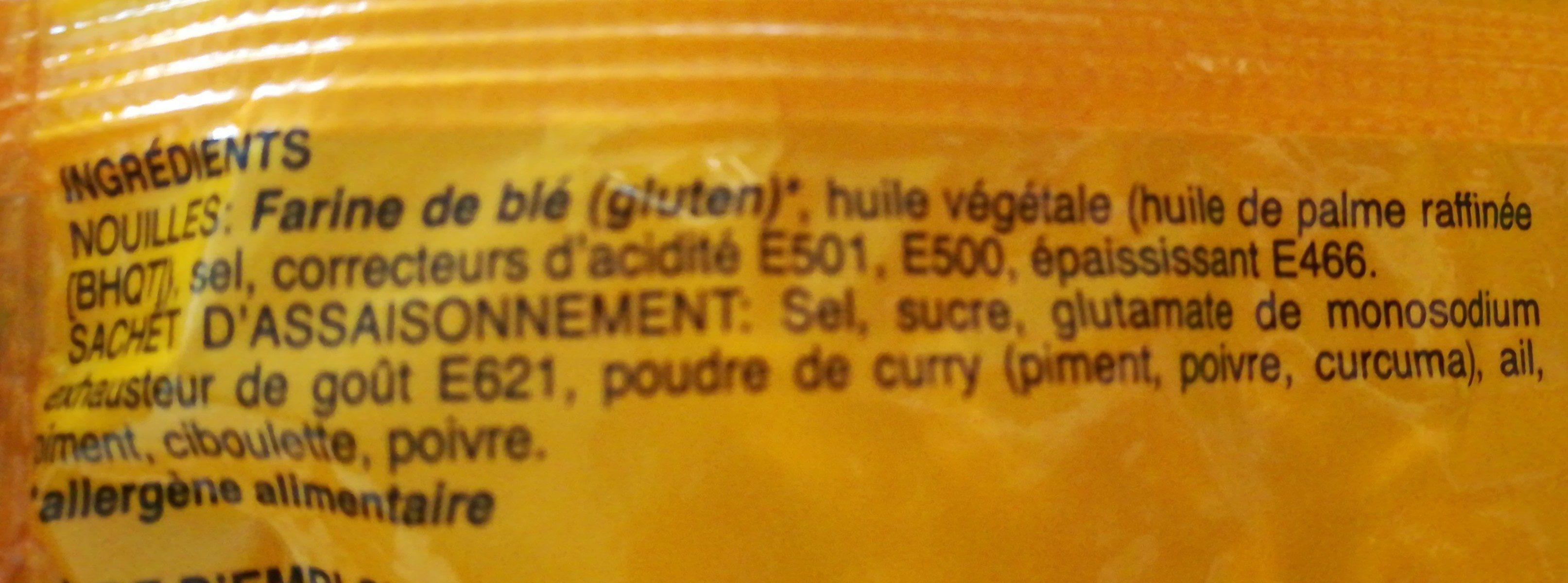 Nouilles - Saveur Curry - Ingredients - fr