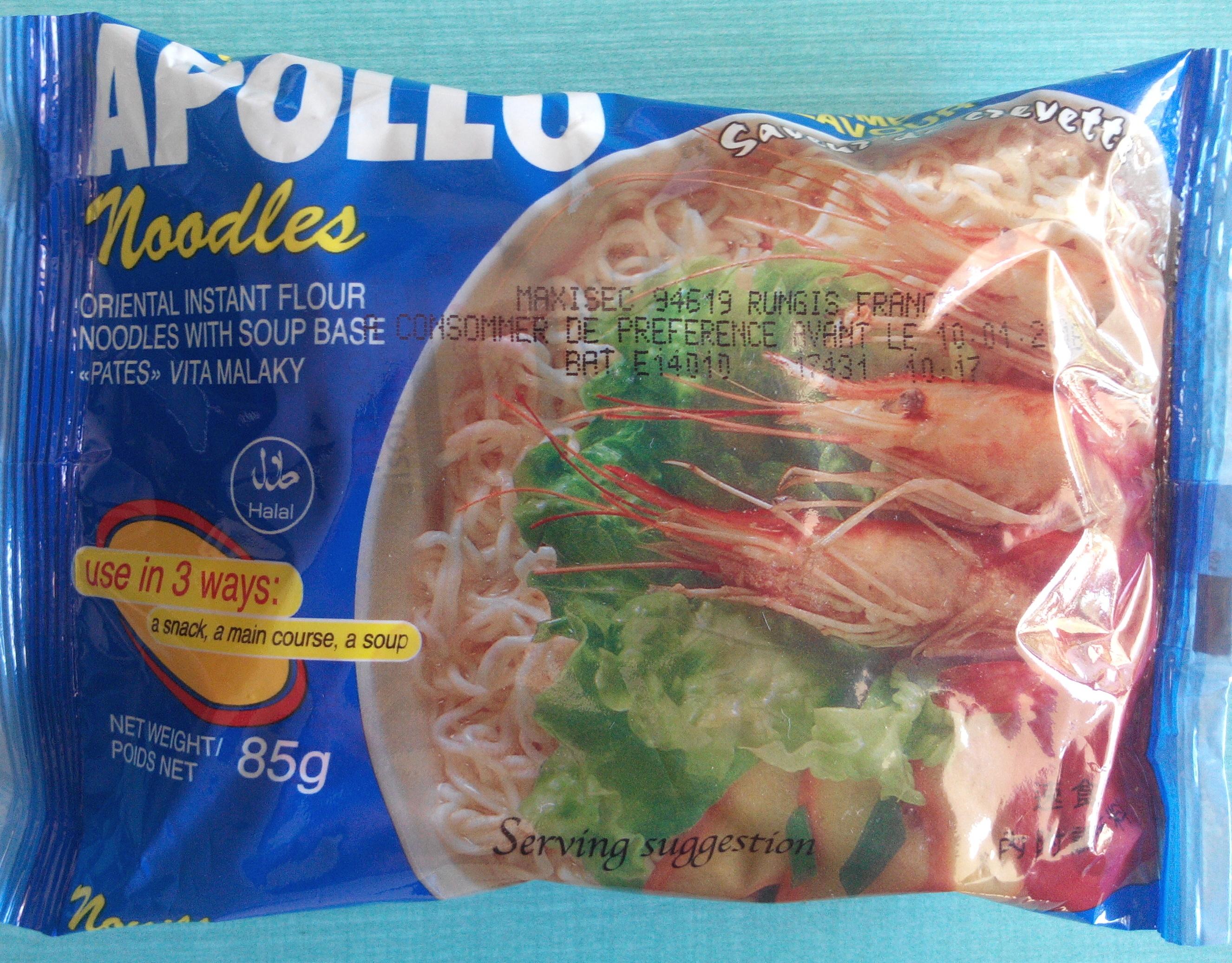Noodles saveur de crevette - Produit