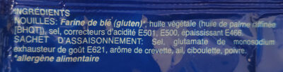 Noodles saveur de crevette - Ingrédients - fr