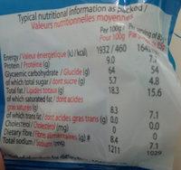 Noodles saveur de crevette - Informations nutritionnelles - fr