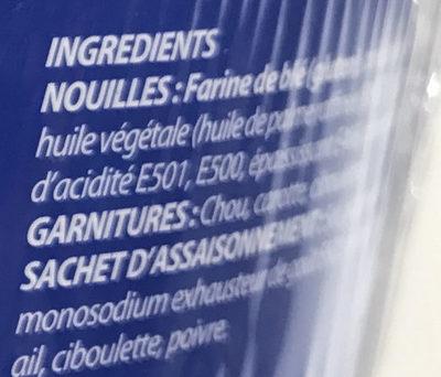 Nouilles instantanées saveur Crevettes - Ingrédients