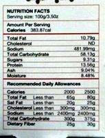 Epices Tandoori - Nutrition facts - fr