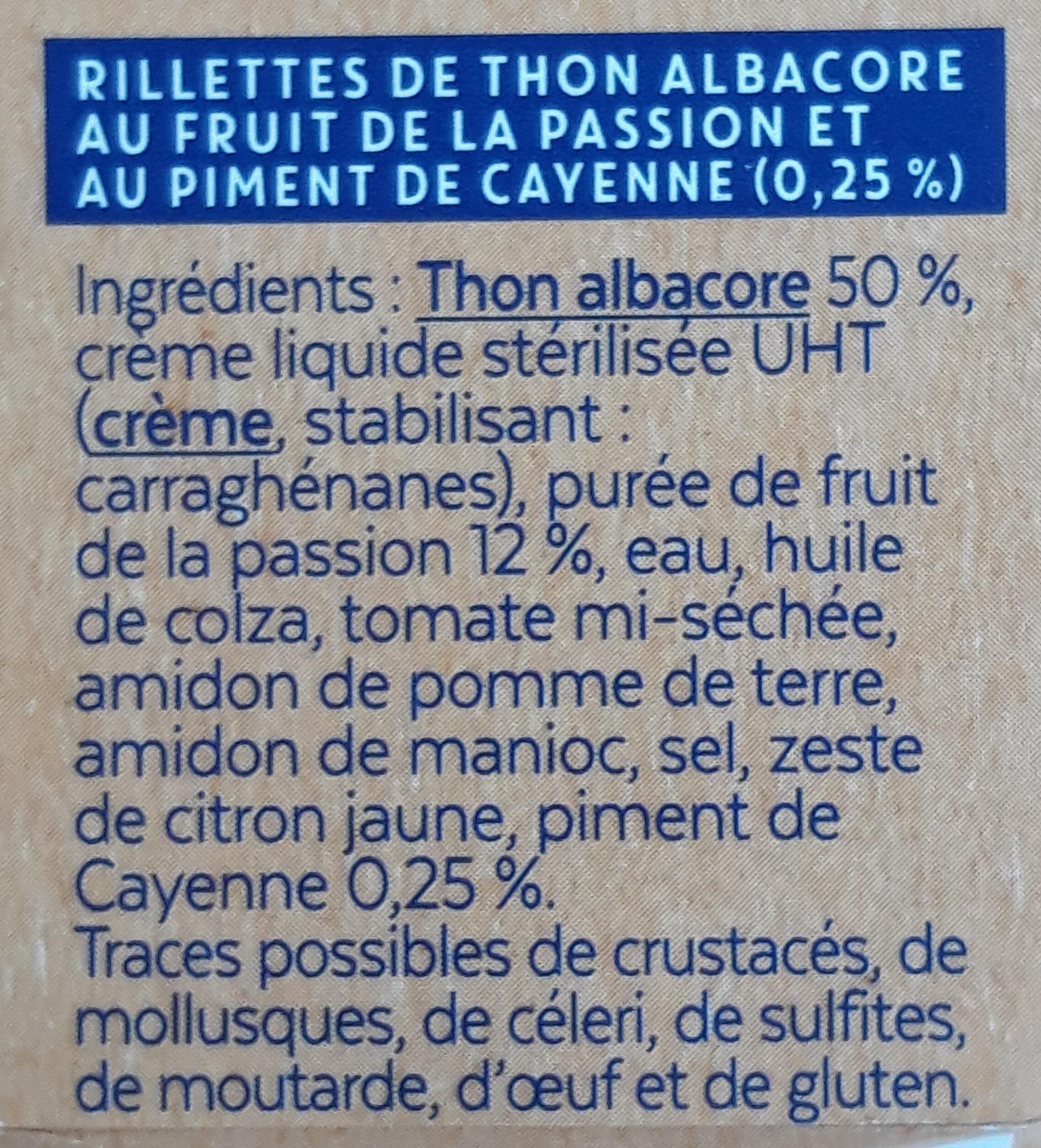 Rillettes de thon - Ingredients