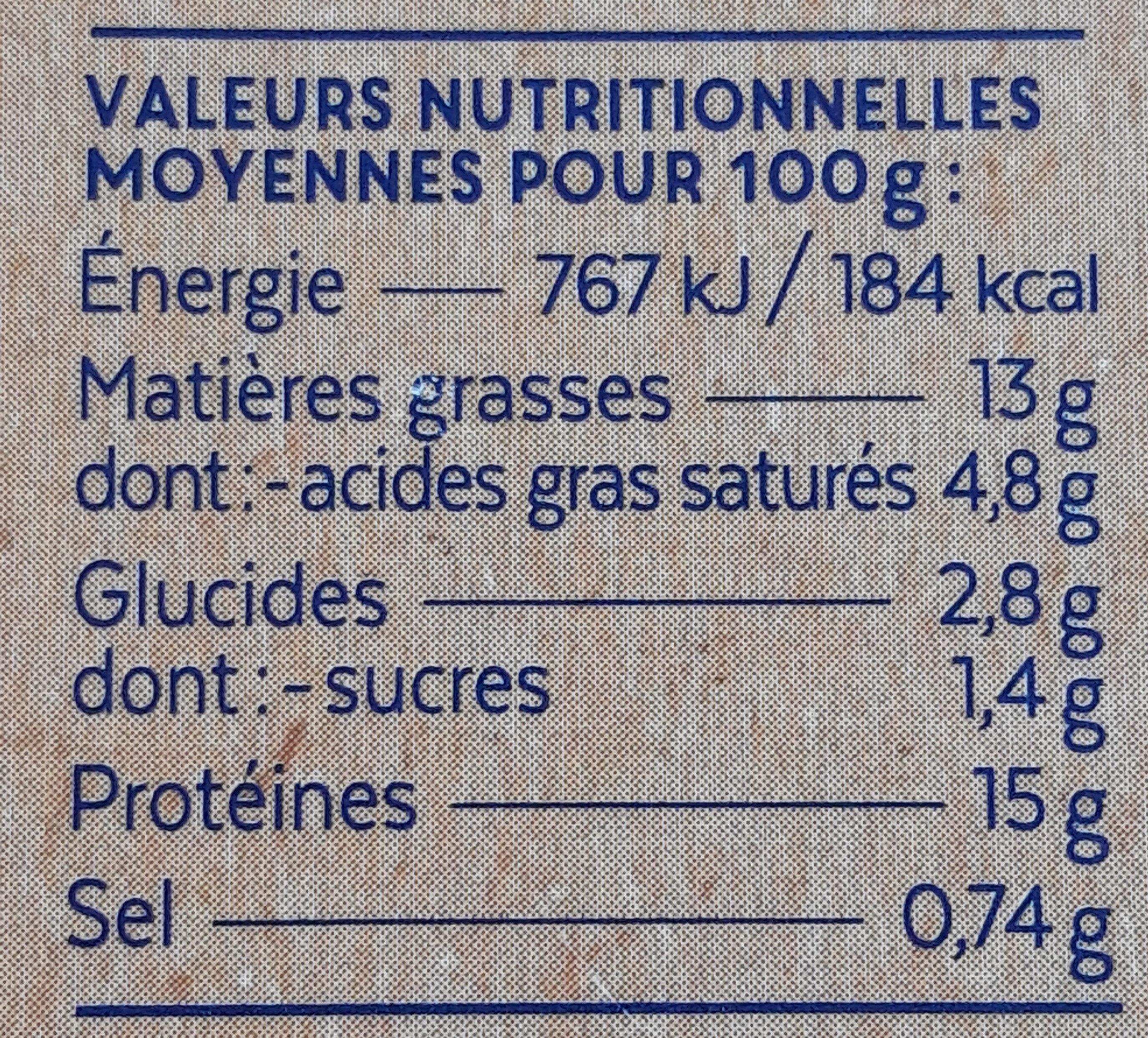 Rillettes de thon - Nutrition facts