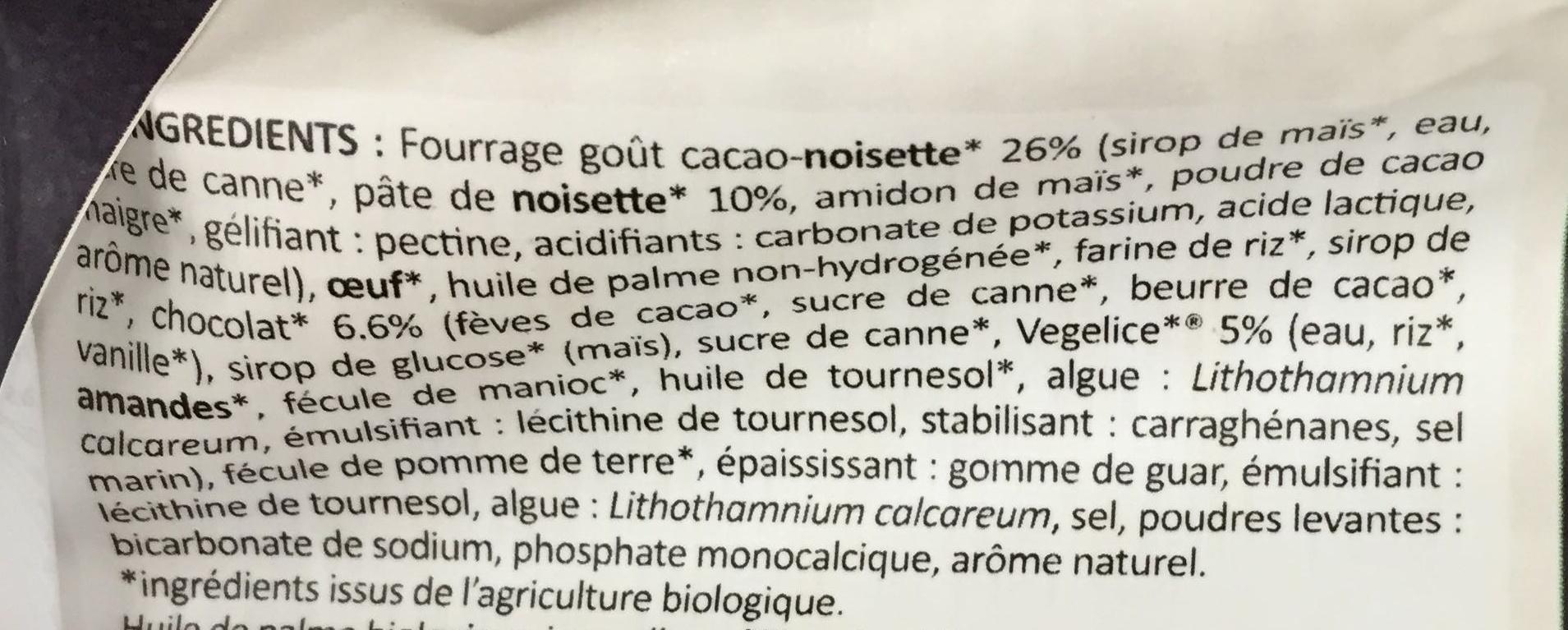 Muffins Chocolat - Ingrédients - fr