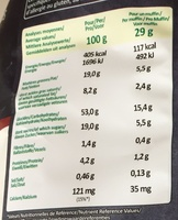 Muffins Chocolat - Informations nutritionnelles - fr