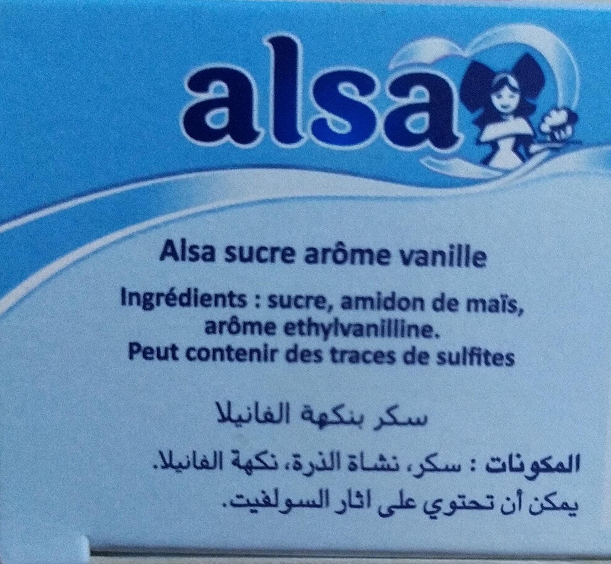 Alsa Vanilla Sugar 70G - Ingrediënten - fr