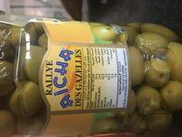 Olives vertes entieres - Ingrediënten - fr