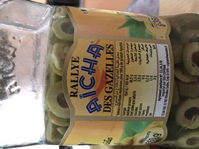 Aïcha olives vertes - Ingrediënten - fr