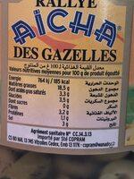 Aïcha olives vertes - Voedingswaarden - fr