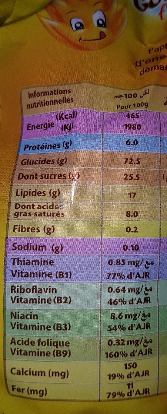Golden Biscuits - Nutrition facts
