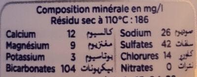 Sidi Ali - Ingredientes - fr