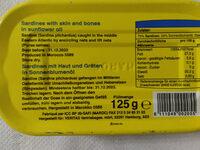Sardines à l huile végétale - Ingrédients
