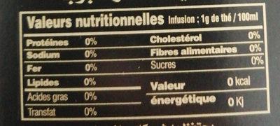 Baroud - Voedingswaarden - fr
