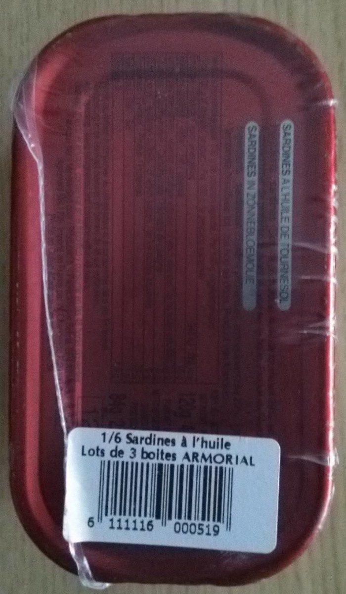 Sardines à l'huile de tournesol - Produit - fr