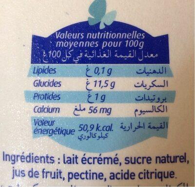 Fawakih - Nutrition facts - en