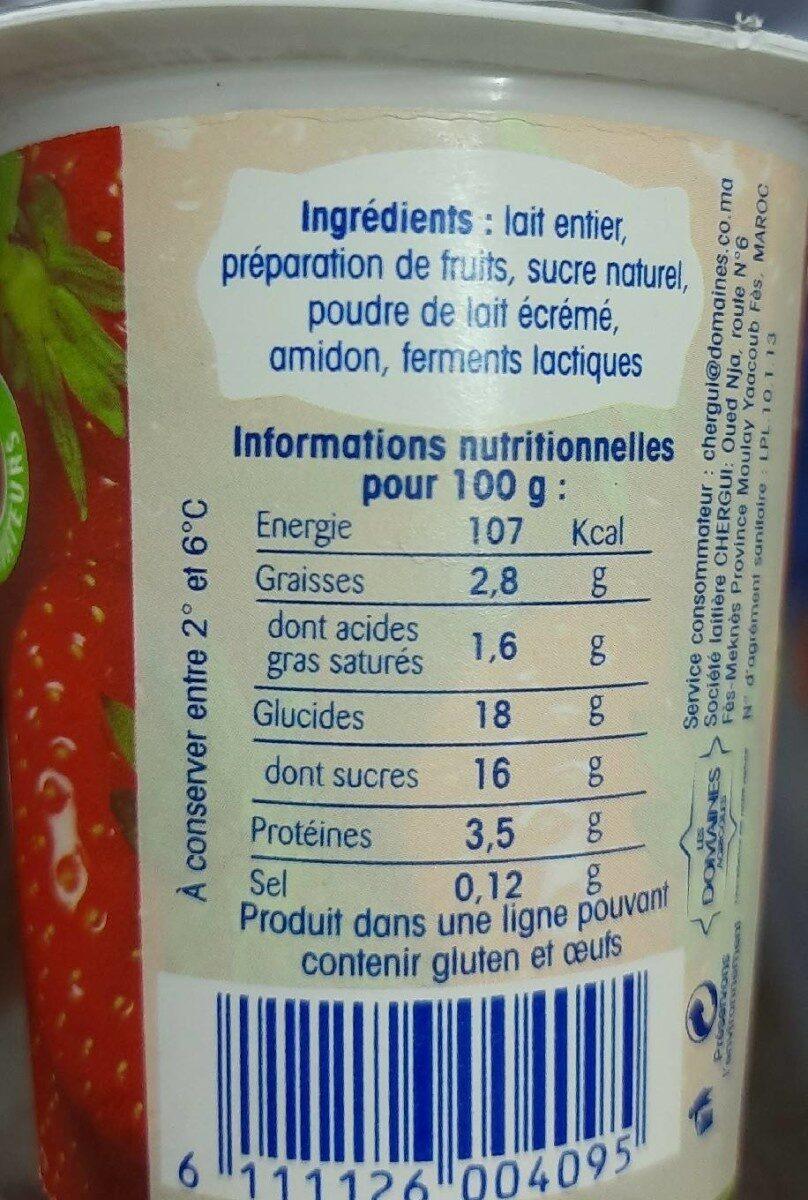 Brassé fraise - Nutrition facts - fr