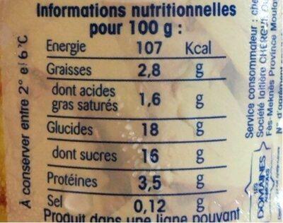 Brassé Ananas - Nutrition facts - fr