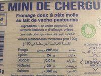Le mini de chergui - Nutrition facts - fr