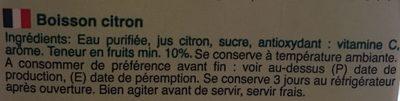 Actifruit citrion - Ingrédients