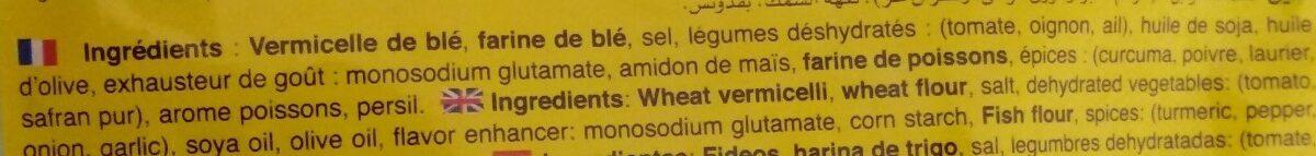 Soupe de poisson - Ingredients - fr