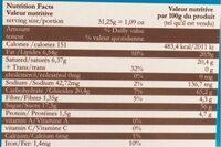 Preparztion en poudre pour mousse - Nutrition facts - fr