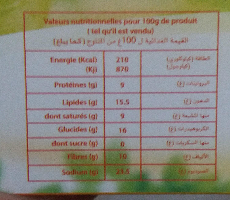 Damti - Voedingswaarden - fr