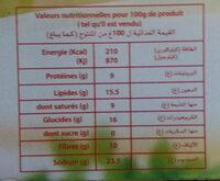 ضامتي - Damti - Nutrition facts