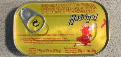 Spiced Sardines in Soybean Oil - Product