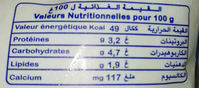 Raib - Nutrition facts - fr