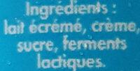 Perly - Ingrédients