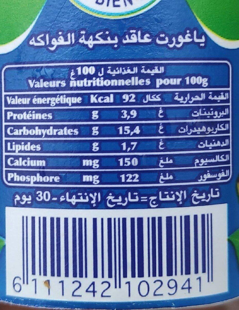 Yaourt Bnine Banane - Nutrition facts - fr