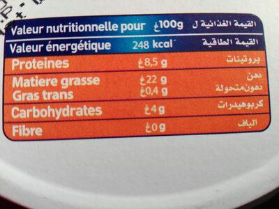 La Fermière - Ingrediënten - fr