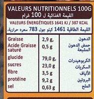 Vita Choco - Informations nutritionnelles - fr