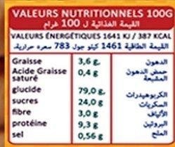 Vita Ring's - Informations nutritionnelles - fr
