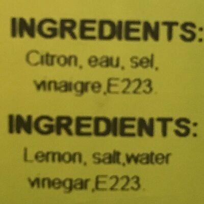 Citron en saumure - Ingrédients - fr