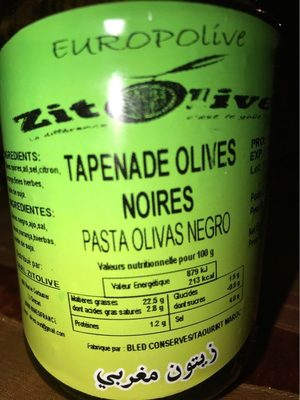 Tapenades olives noires - Produit - fr