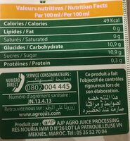 100% pur premium ananas - Informations nutritionnelles - fr