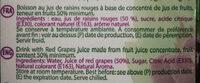 Essentiel Nectar Raisins Rouge - Ingredients